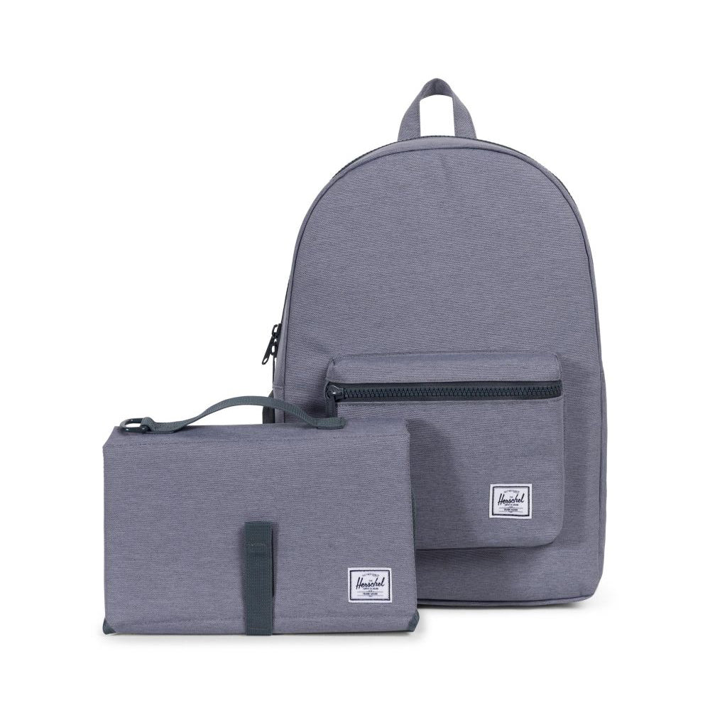 herschel_sac à dos_couche_diaper_bag_changing mat_mom_maman_essentiel_unisex_gris