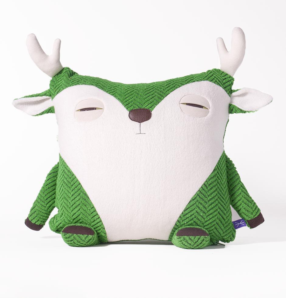 Coussin-Caribou vert