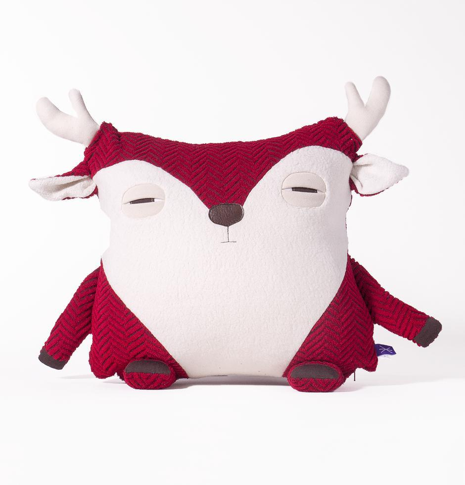 Coussin-Caribou Rouge