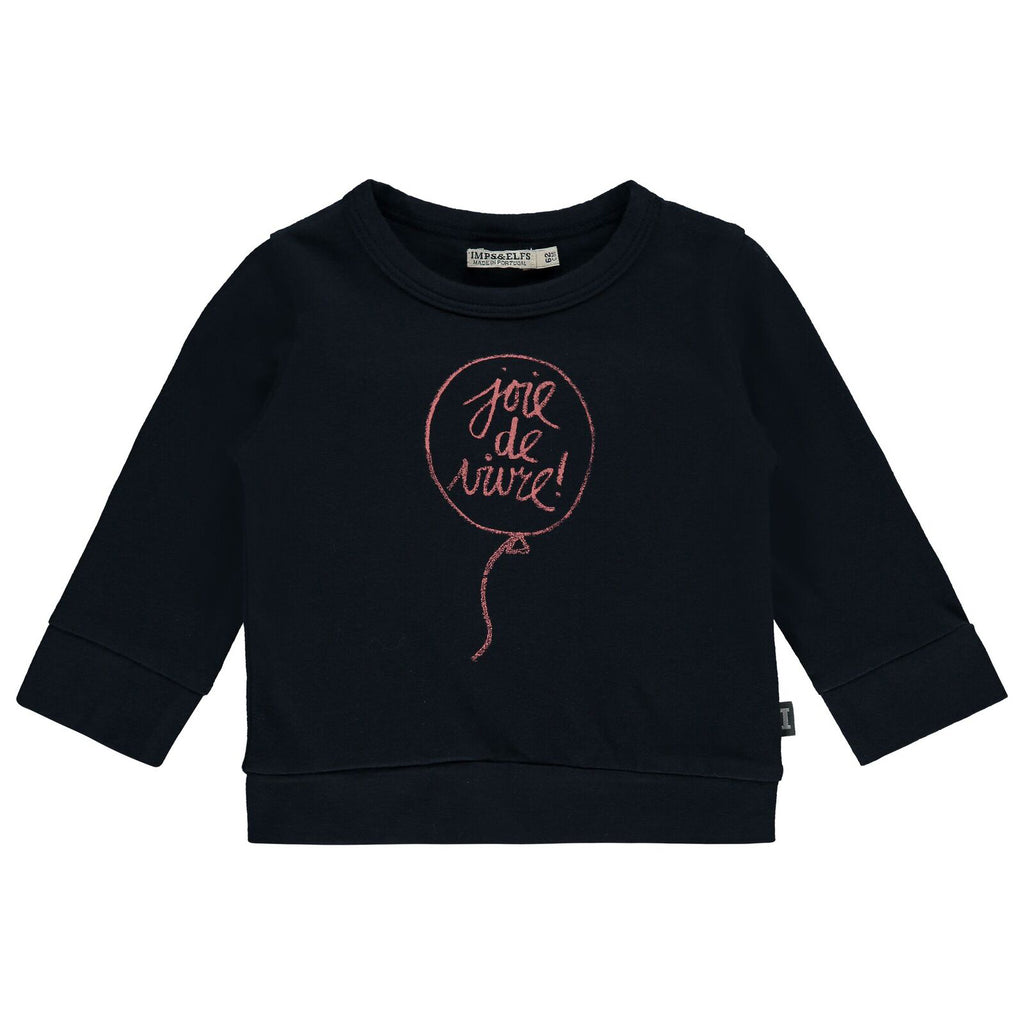 Chandail_manches longues_ long sleeve_sweater_marine_navy_joie de vivre_happy