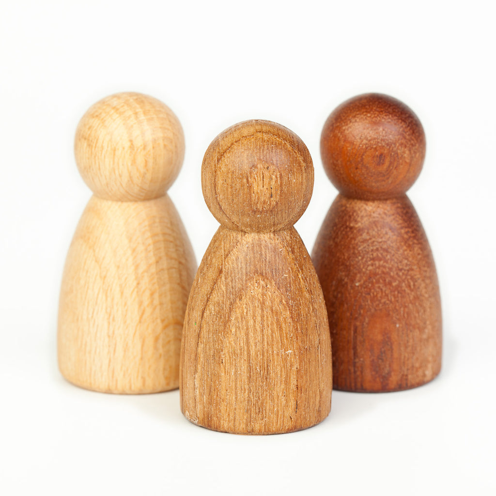 Joguines-Grapat_3 personnages de bois_wood nins_équitable_fair trade_learning toys_kids_simple_Waldorf