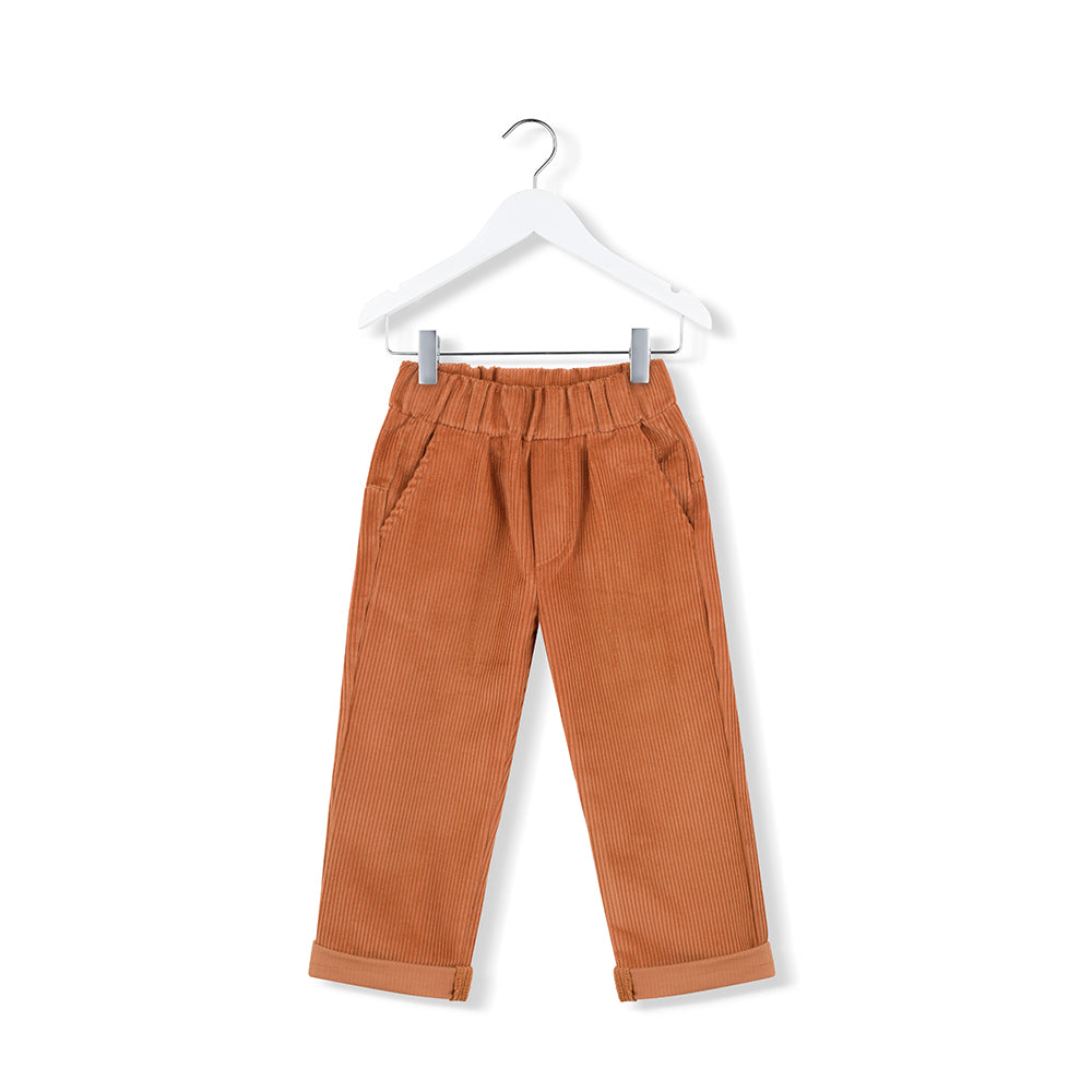 Kidsonthemoon_AW19_hiver_winter_fashion_tendance_mode_kids_enfant_quebec_pantalon_pants_corduroy_rouille