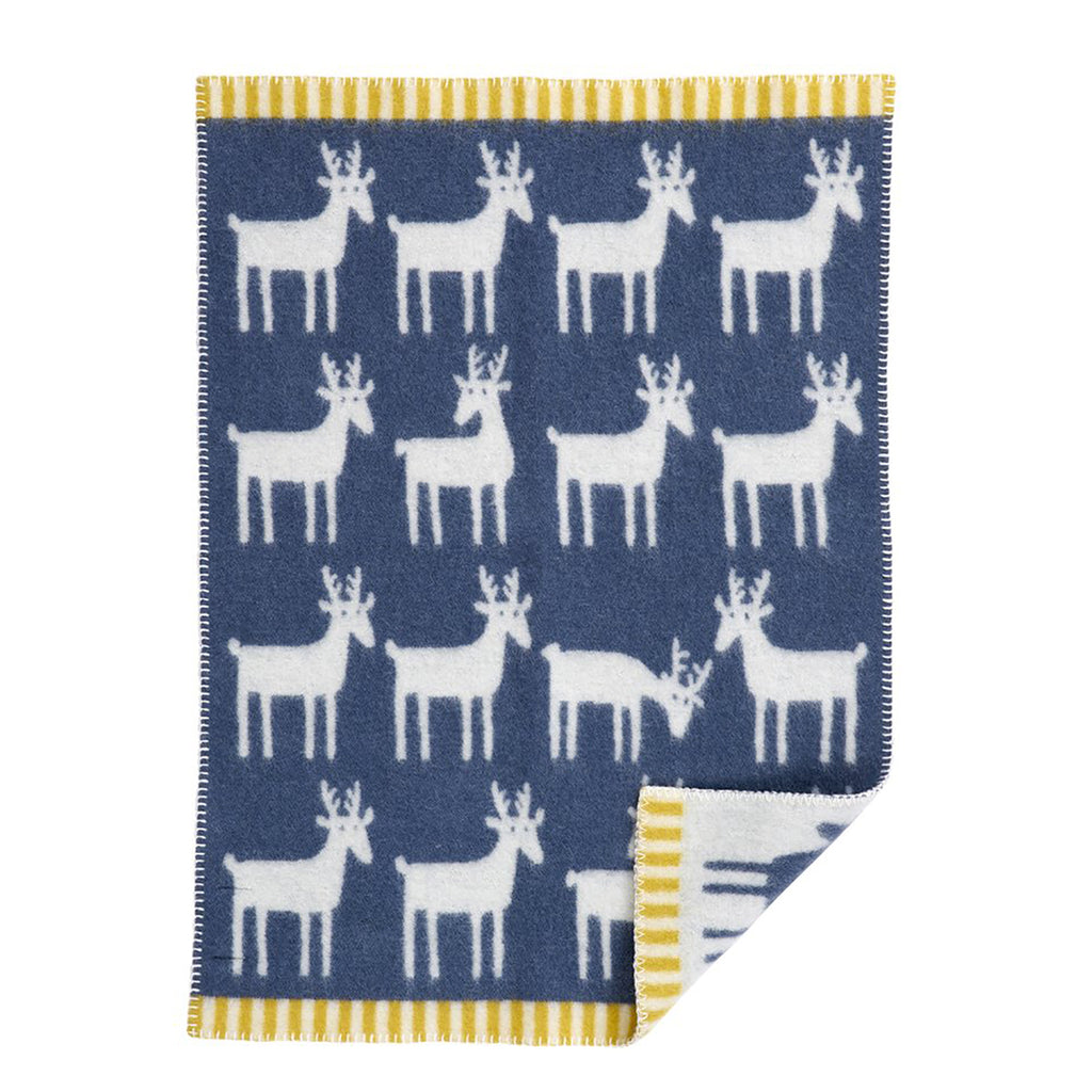 couverture deer wool organic laine organique baby Klippan