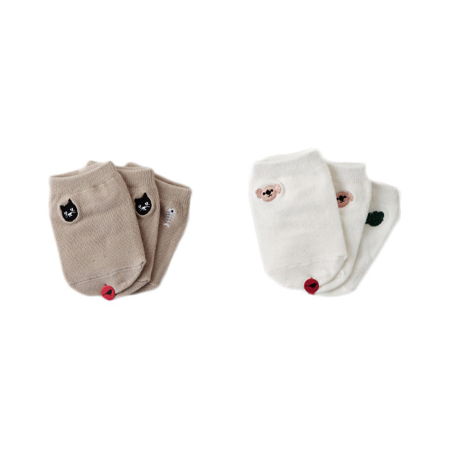 *Kokacharm_socks_chaussette_bas_kids_clothes_quebec_funny_CAT-KOALA_