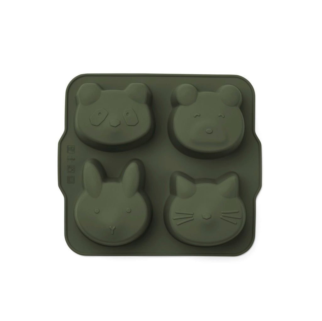 Moule animal à gâteaux en silicone - Hunter green