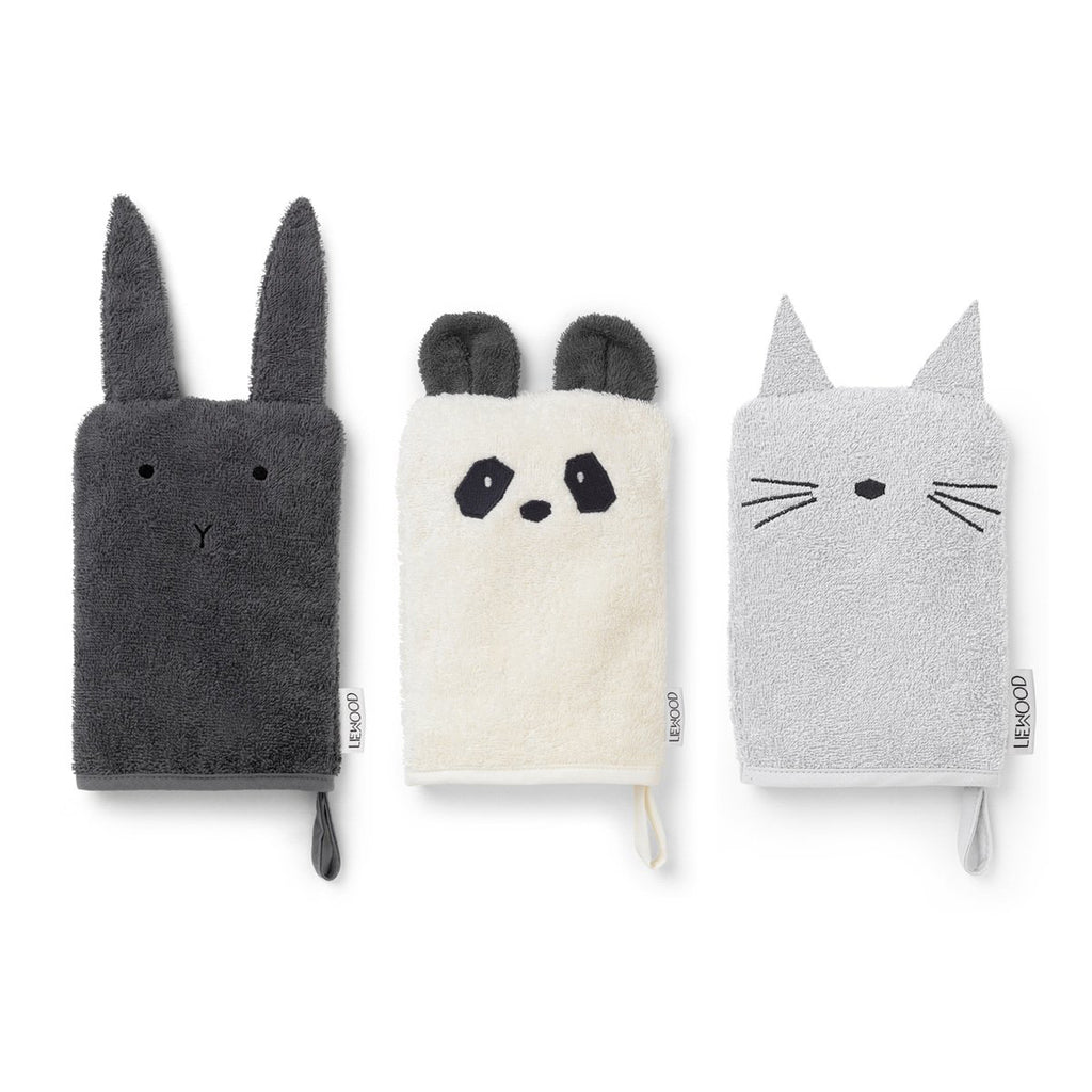 Liewood_sylvester_washcloth_bath_lapin_panda_chat_cat_bunny_bain_