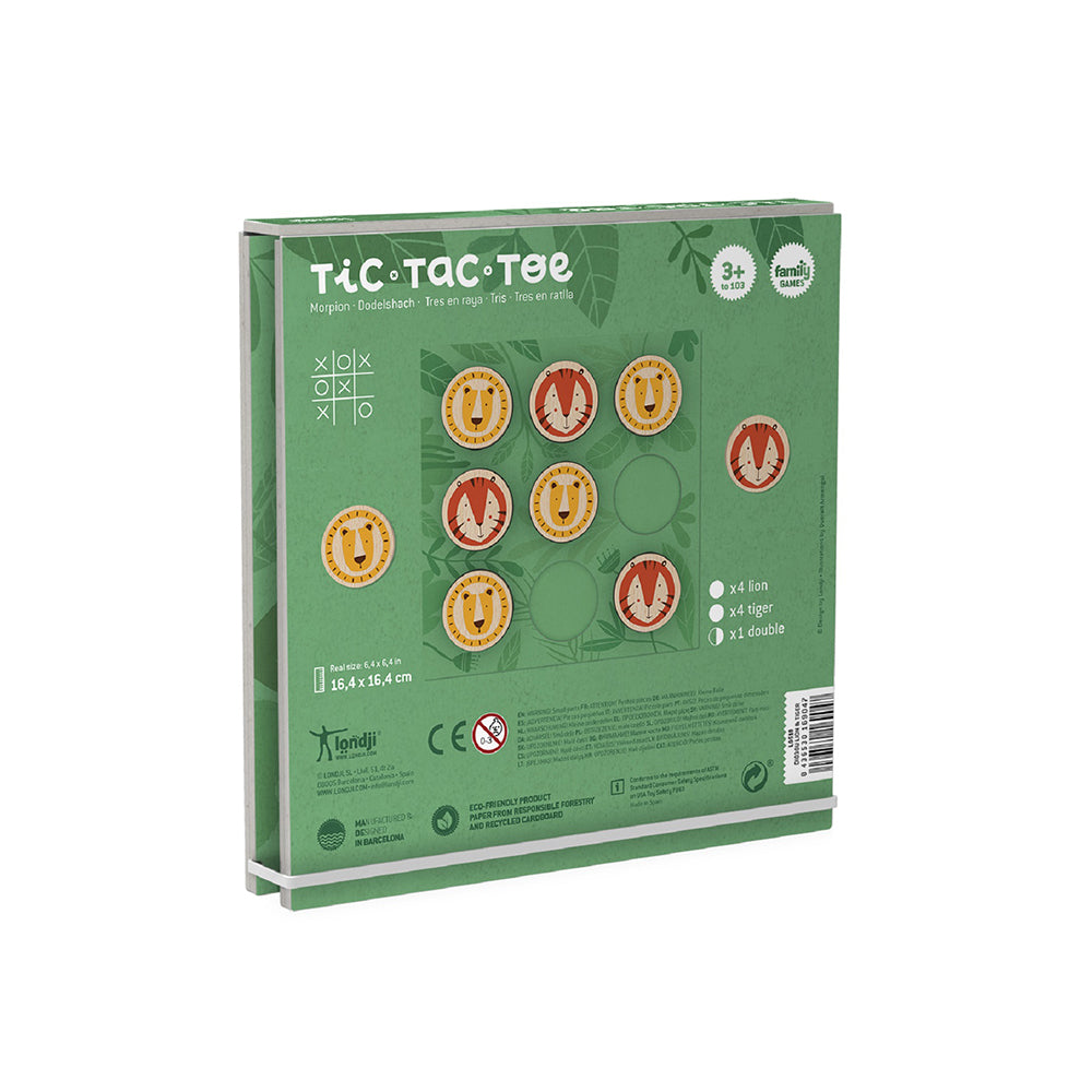 Tic-Tac-Toe en bois - Jungle (4093533356055)