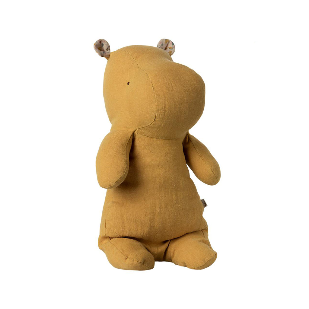 Peluche Safari HIPPO - Medium dusty yellow