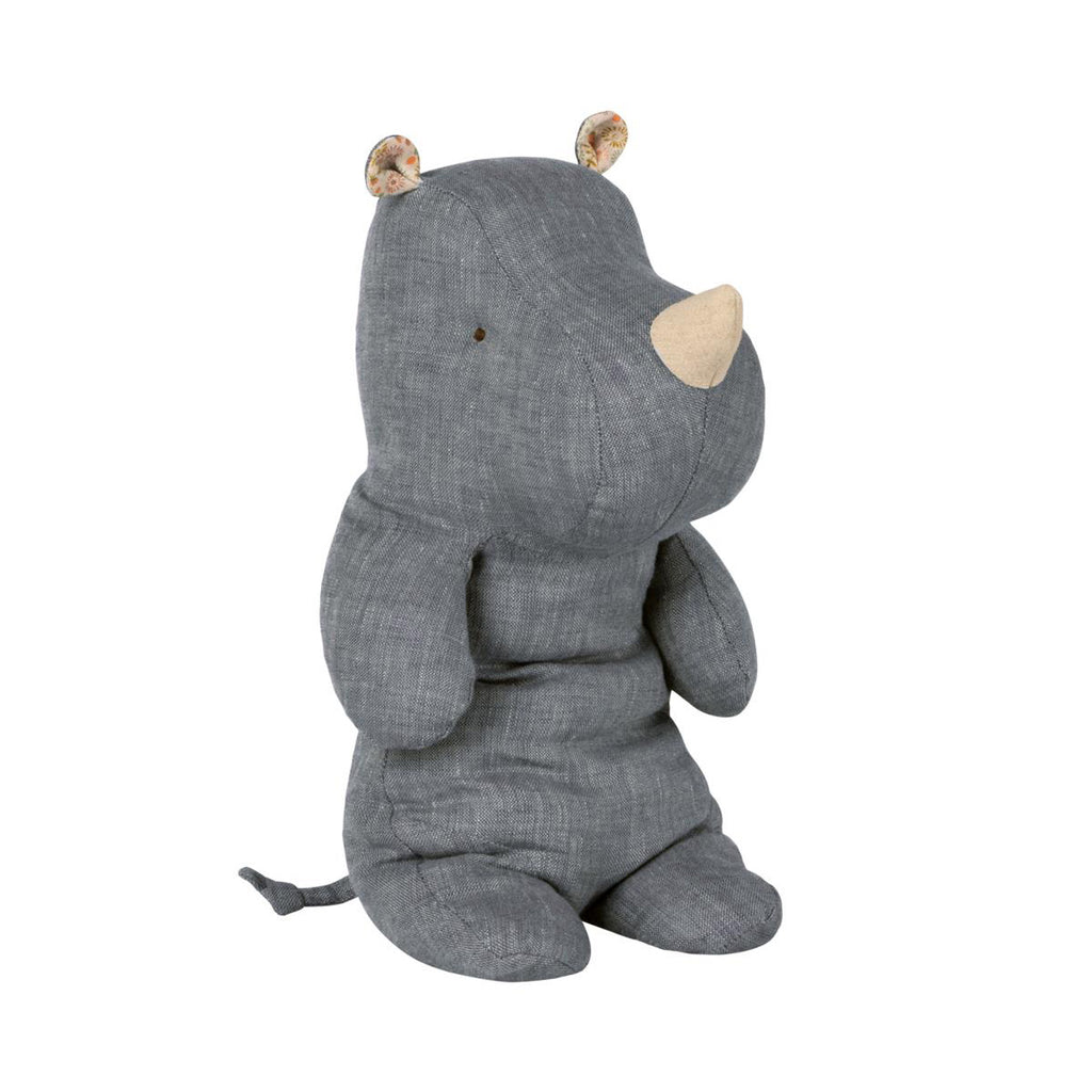Peluche Safari RHINO - Medium bleu
