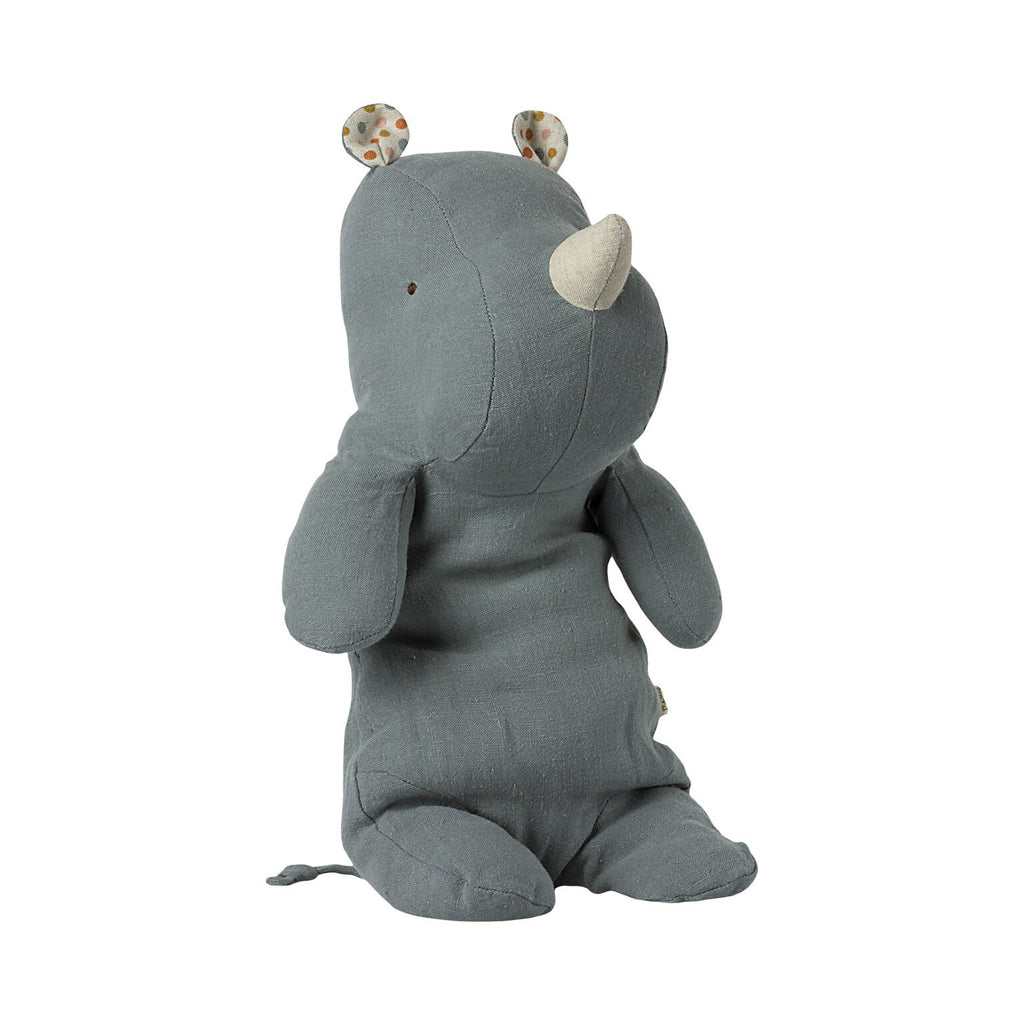 Peluche Safari RHINO - Medium dusty blue