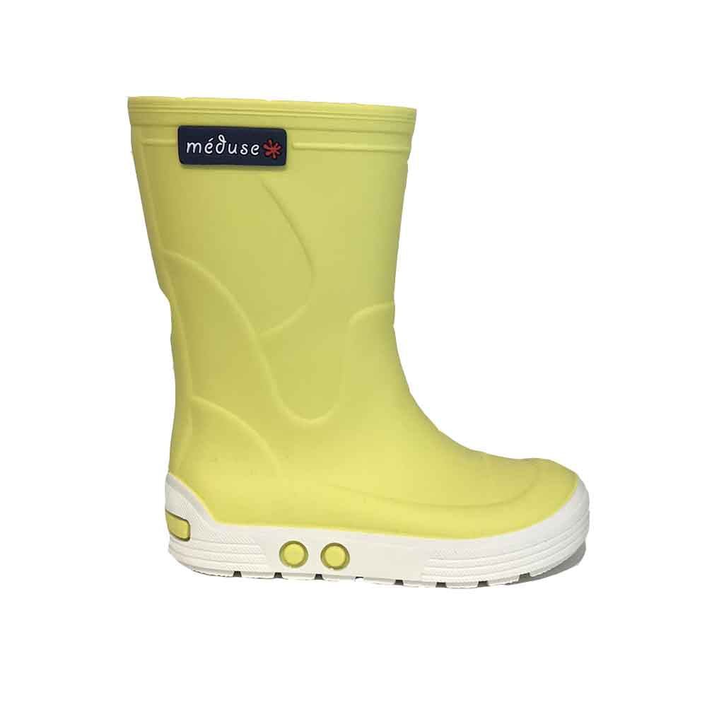 Méduse_raine boot_botte de pluie_jaune_citron_mode enfants_kids fashion_baby boots_yellow