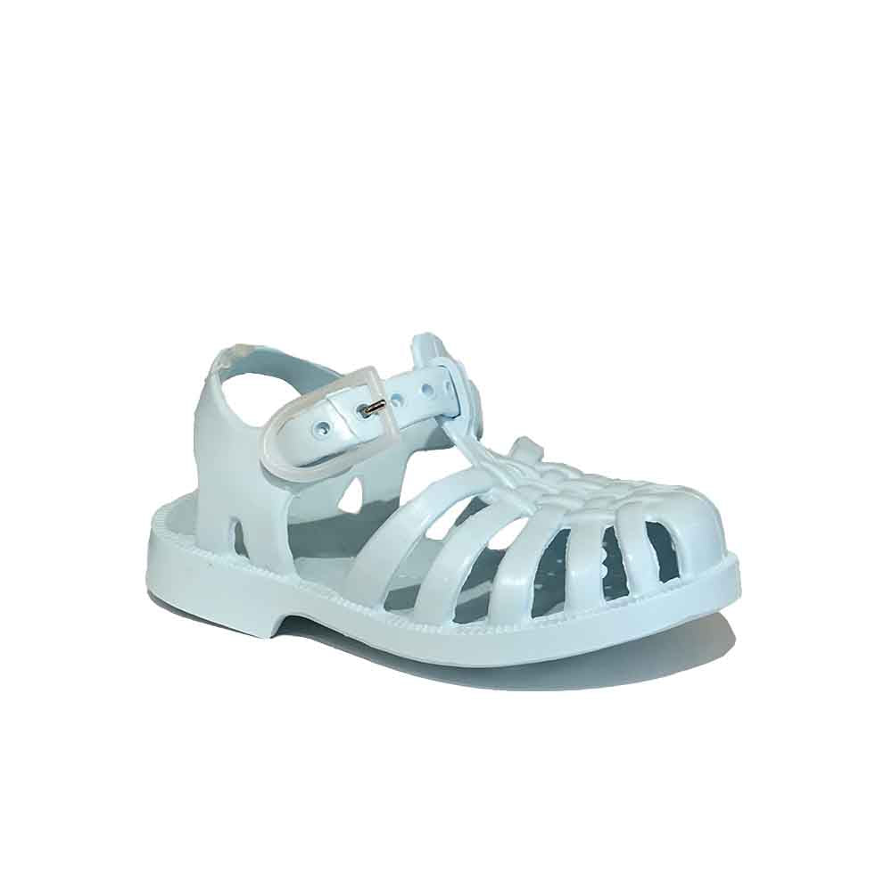 Méduse_sandales_sandals_baby blue_bleu_chaussures d'eau_water shoes_vintage_cool_fashion kids_mode enfants_baby_bébé