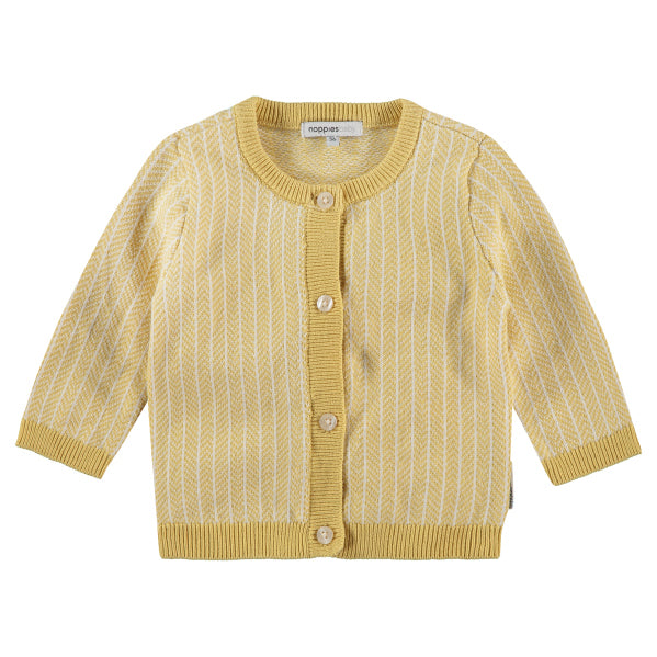 cardigan jaune yellow ligne stripe vest knit tricot