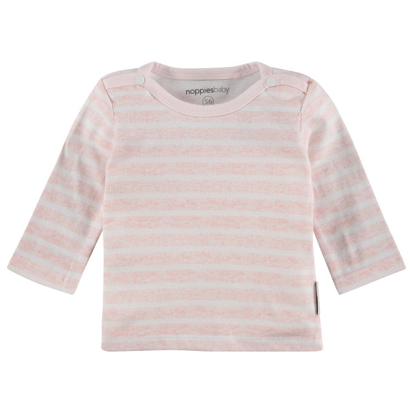 pink rose lignes stripes t-shirt manches longues long-sleeved