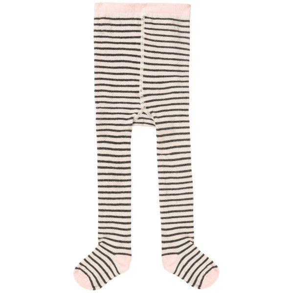 collant tights pink rose rayé stripes black white noir blanc