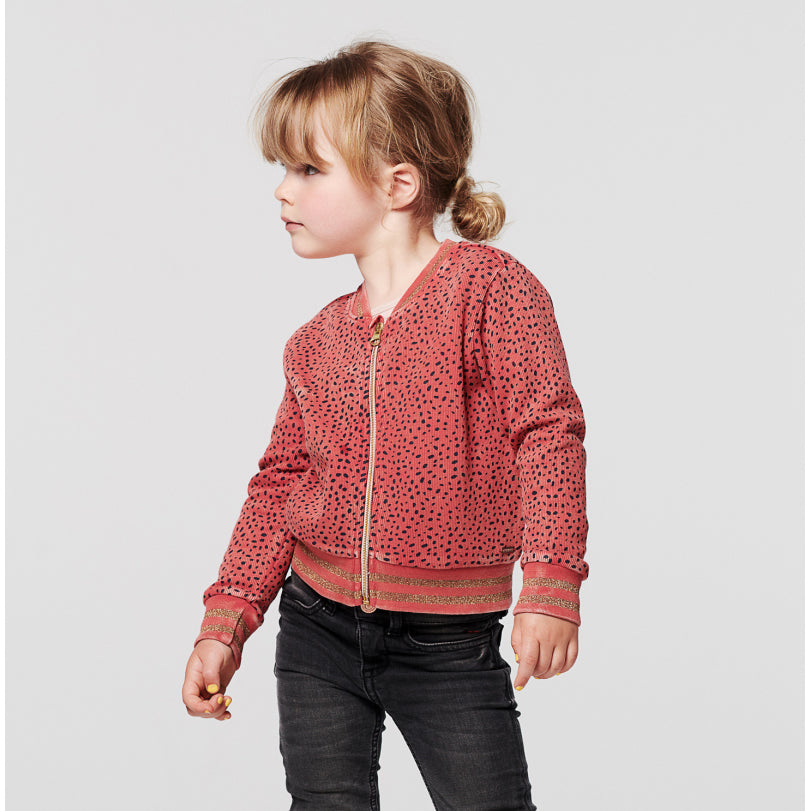 Cardigan Cromwell fille : Rouge à pois - Noppies (4357834670103)