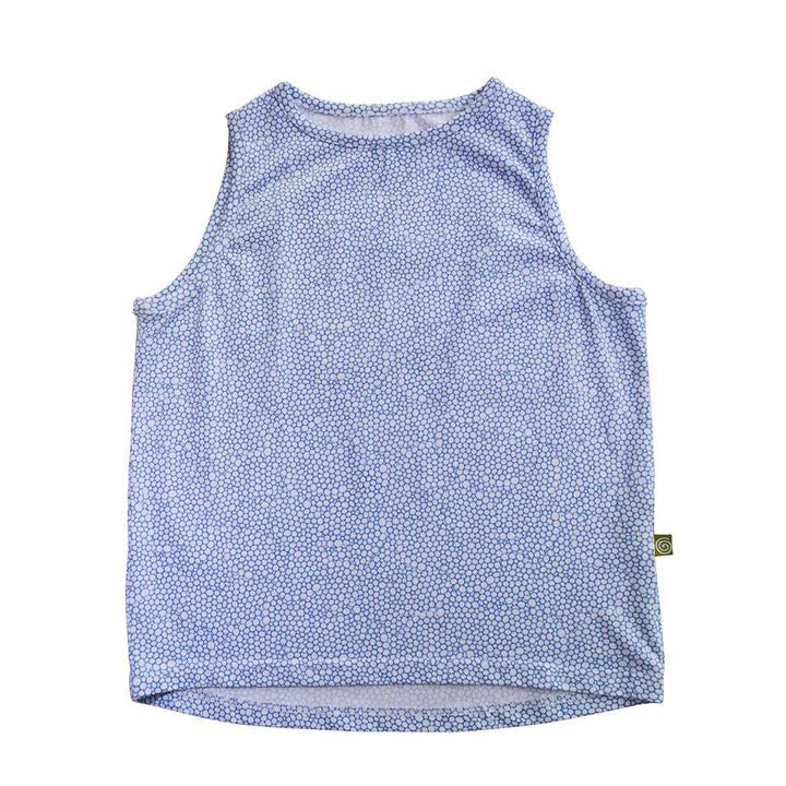 camisole tank top bulle bubble blue summer fashion kid