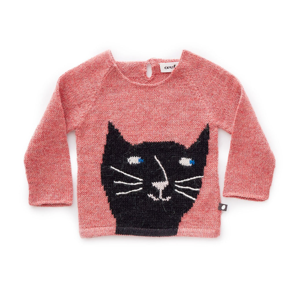pull_sweater_cat_chat_pink_fashion_alpaga_alpaca_knit_cute_kids