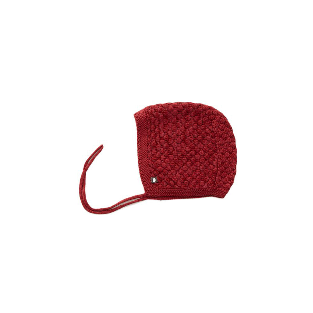 Bonnet bébé en coton pima : rouge - Oeuf be good (4367531671575)