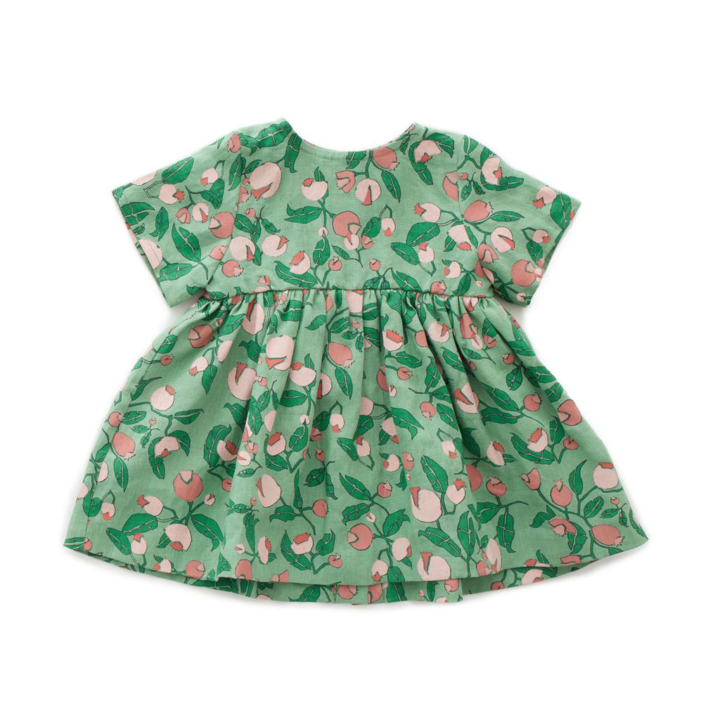 Oeuf_ss20_quebec_lesptitsmosus_vêtement_clothing_fashion_tendance_littlerascal_coolkids_kids_baby_robe_dress_fleurs_flowers_green