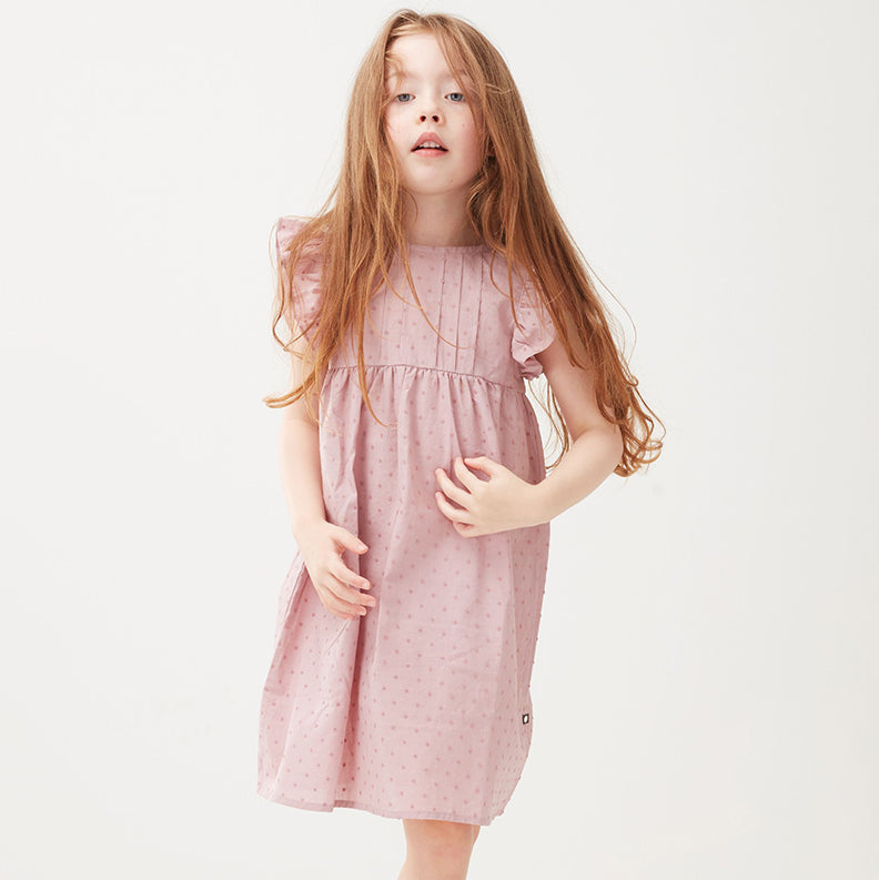 Robe swiss dot - Mauve