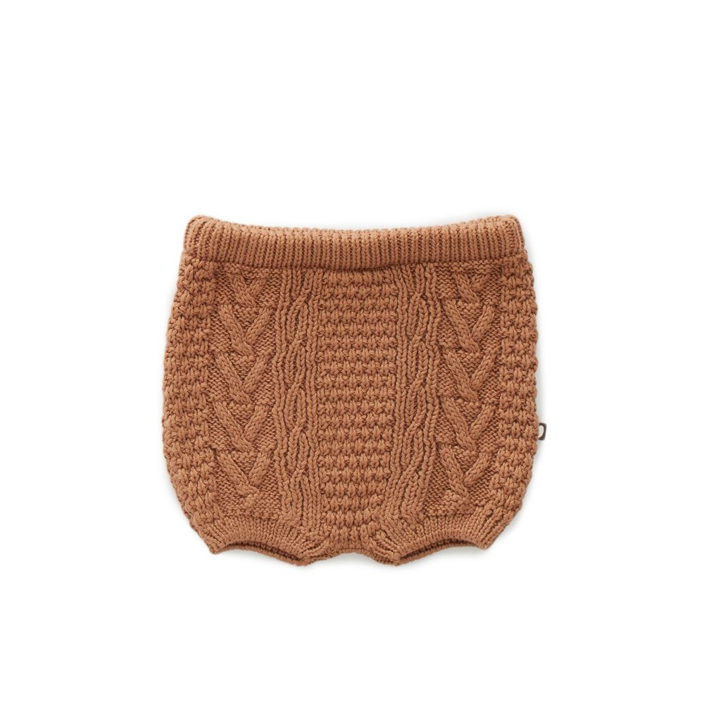 Shorts unisexe en tricot : Marron - Oeuf be good (4367552872471)
