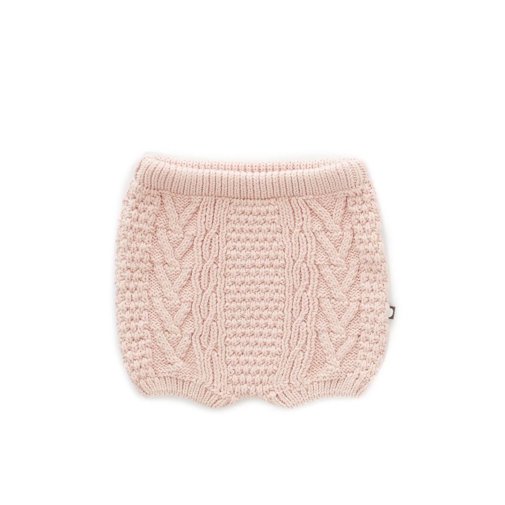 Shorts fille en tricot torsadé : Corail - Oeuf be good (4367550251031)