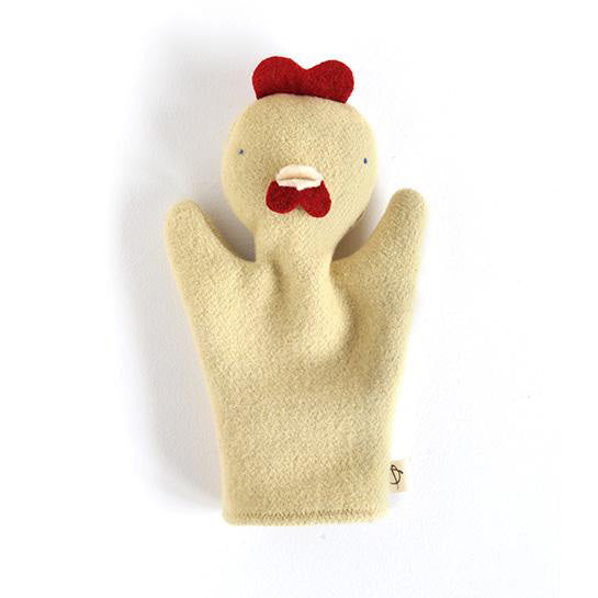 marionnette_puppet_handmade_faitmain_quebec_canada_madeinquebec_chiot_chien_dog_recycled_wool_poulet_chicken