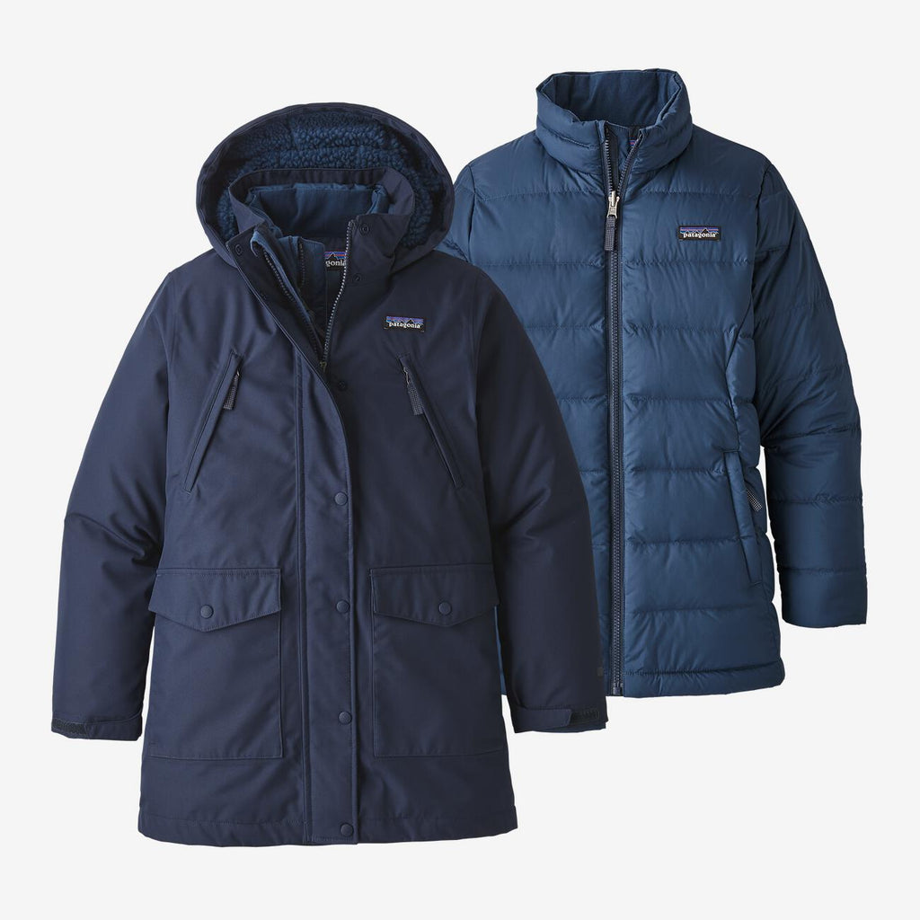 Patagonia enfant Parka 3-en-1 imperméable - New navy