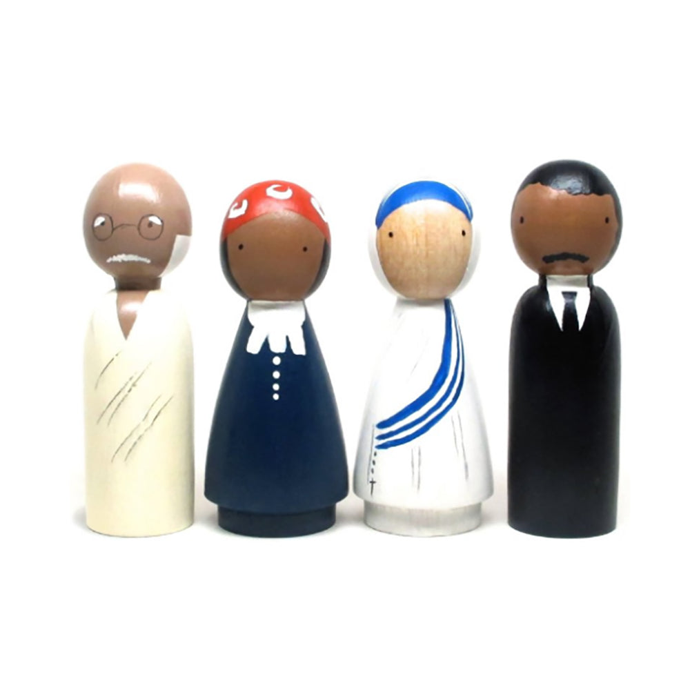 Peace maker_Goose Grease_personnages_wood_bois_figurines_paix_apprentissage_learning