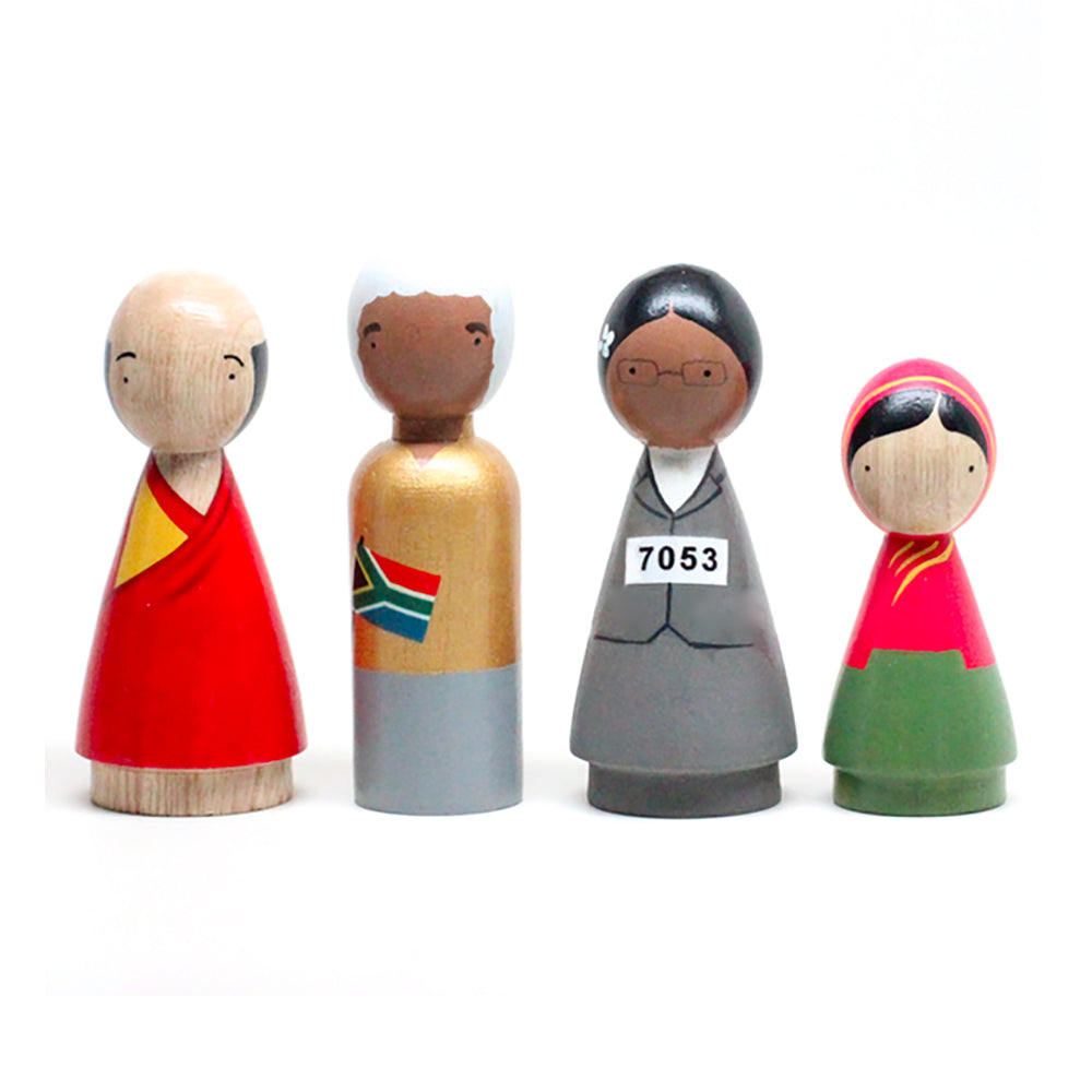 Peace maker_Goose Grease_personnages_wood_bois_figurines_paix_apprentissage_learning_gandi