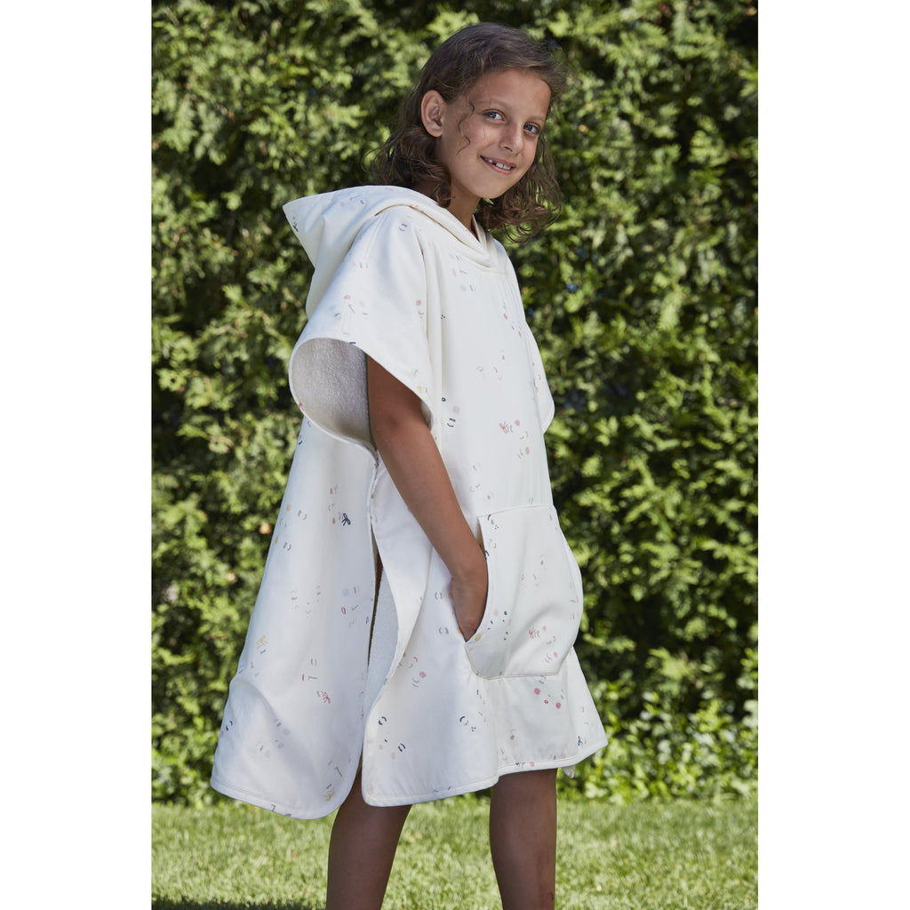 Serviette poncho Peek-a-boo- Rose (1362980274199)