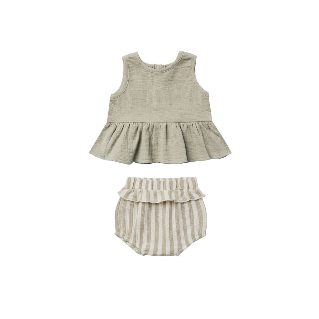 Ensemble camisole + bloomer - Sage