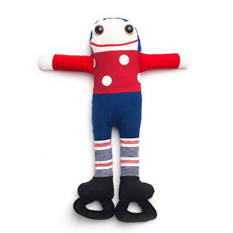 hockey player patin handmade quebec poupee peluche smile sourire