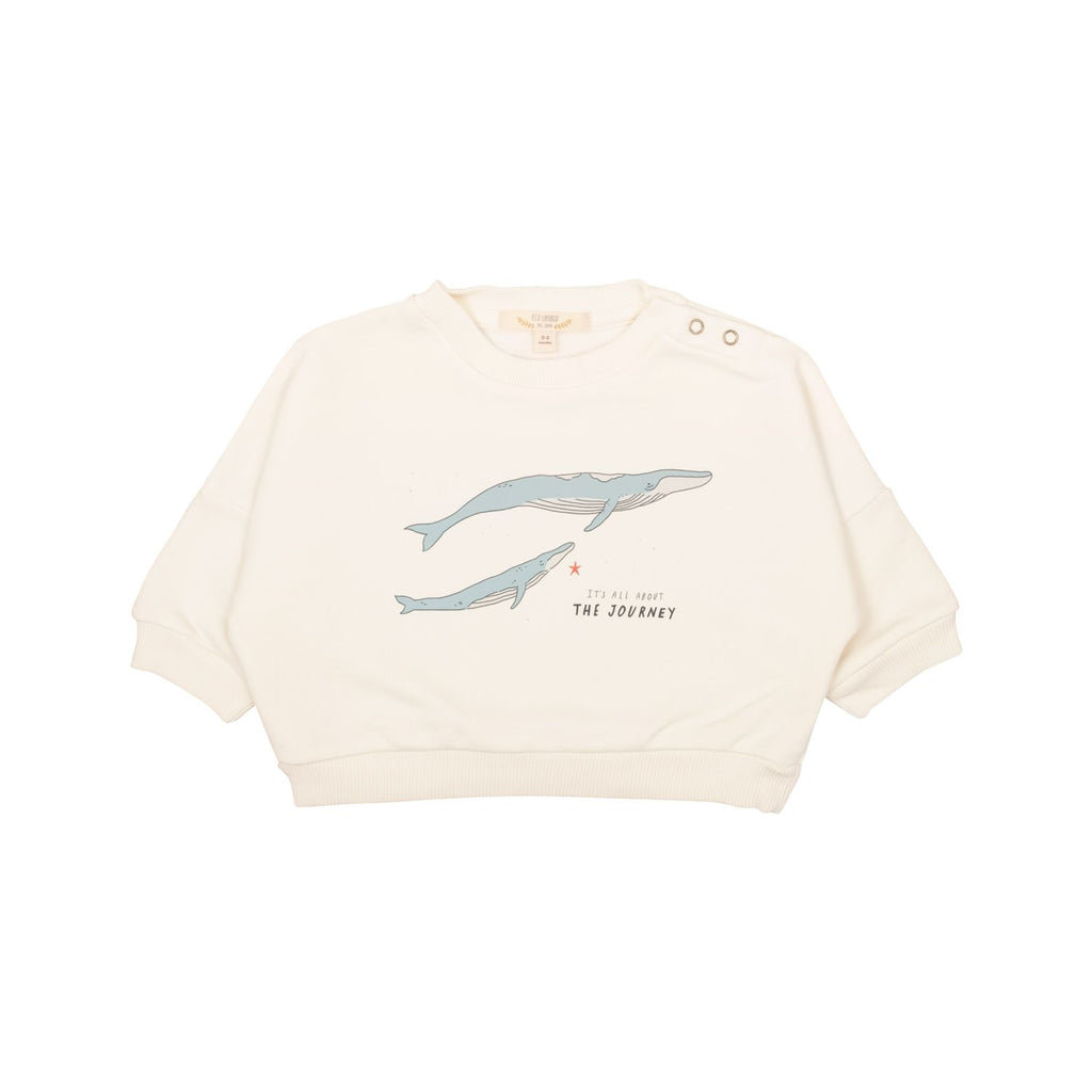"Sweatshirt pima coton ""The Journey"" - Ivory"