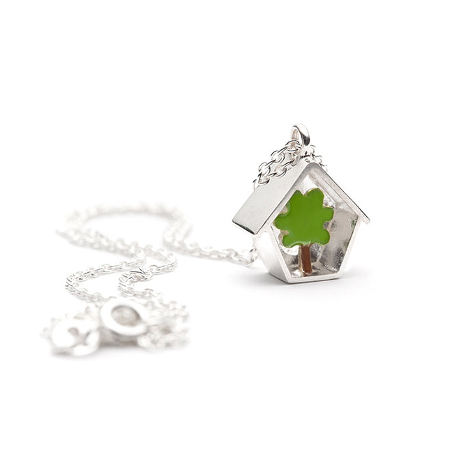 birdhouse_maison oiseau romarine collier necklace