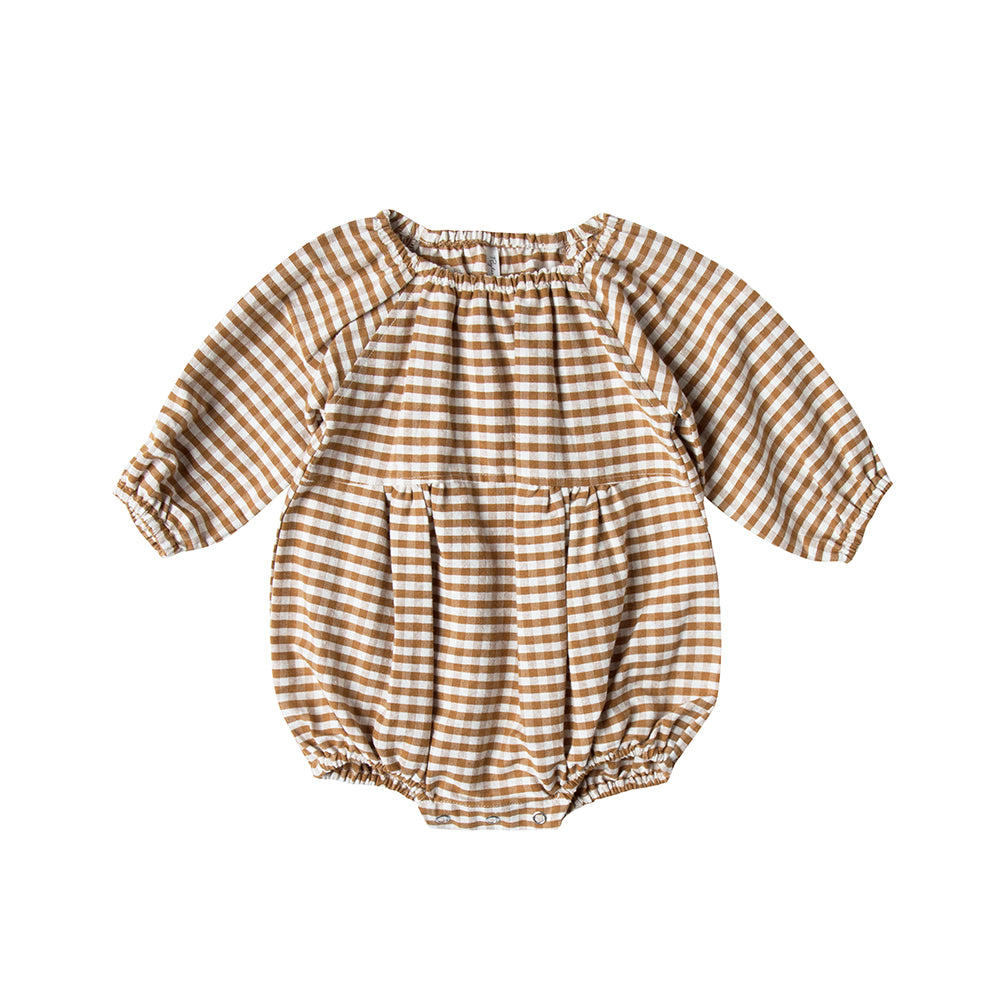 barboteuse_romper_onesie_onepiece_gingham_carreau_ocre_cute_kids_baby_fashion