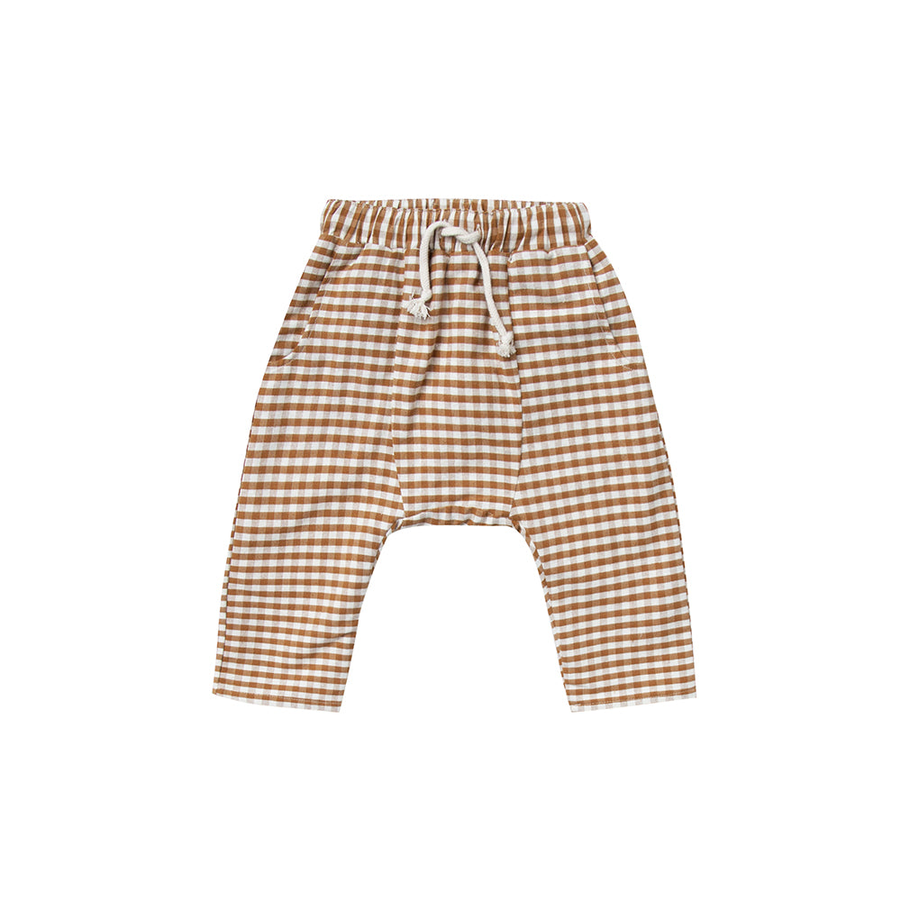 Rylee and Cru_pantalon_damier_carreaux_moutarde_jaune_yoellow_mustard_fashion_mode_drawstring_hawthorn pant_gingham