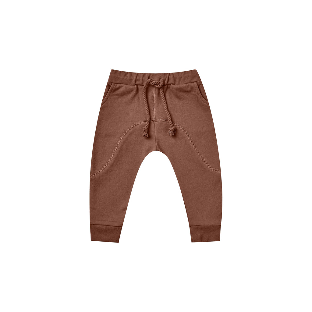 Pantalon jogging french terry - Wine