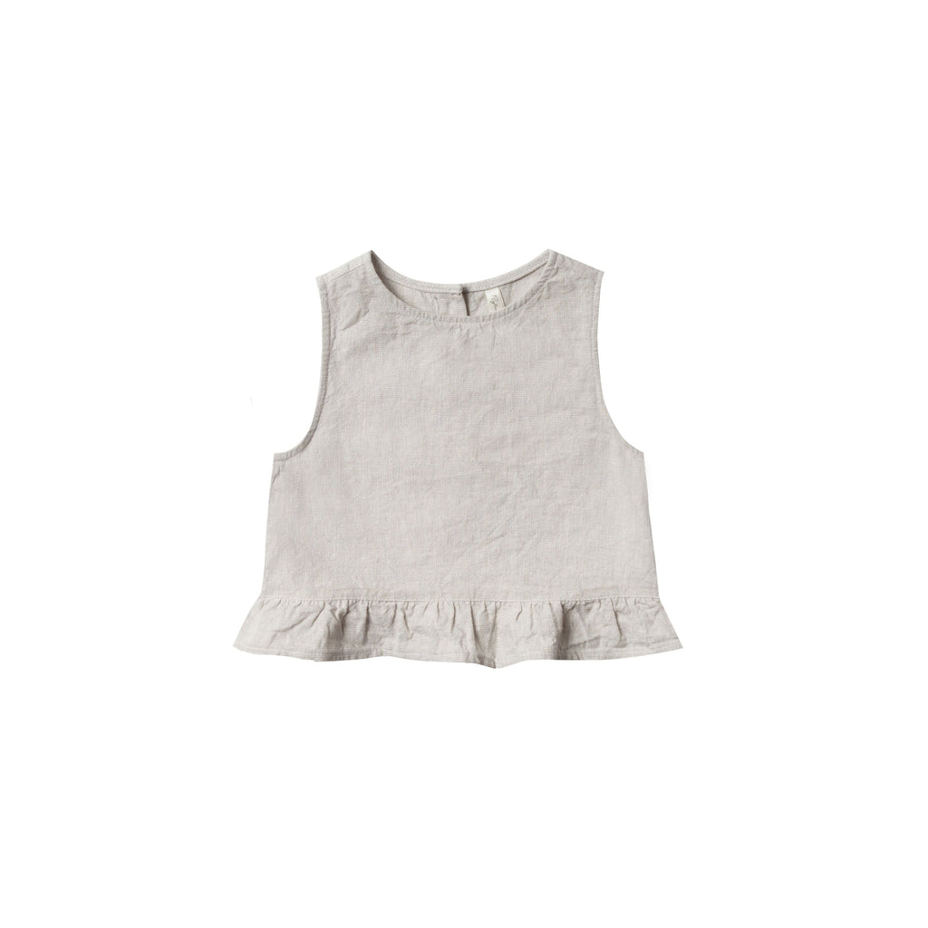 Camisole  à volants : Lin silver - Vêtements fille (4379269496855)