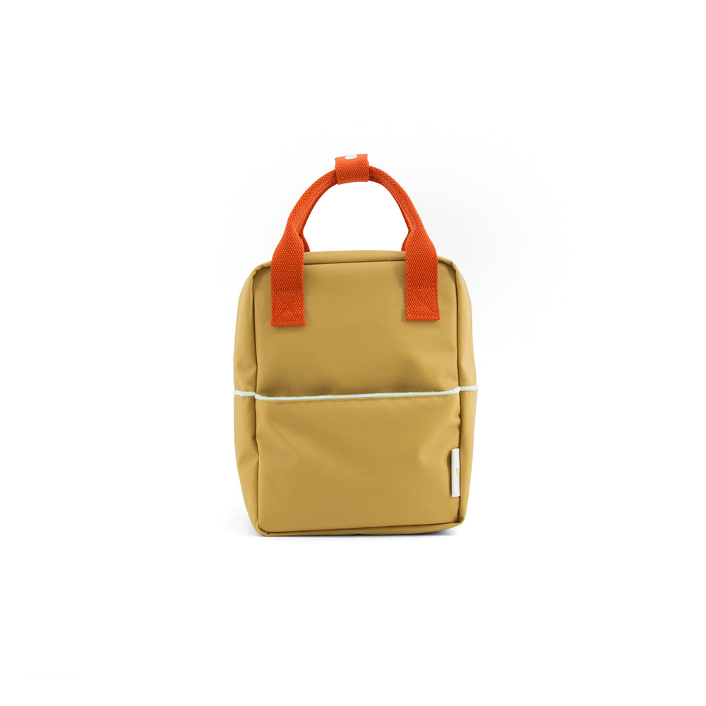 Sticky Lemon - sac à dos_lunch bag_recyclé_jaune_gold_fashion_kids_mode_enfant_maternelle_garderie_backpack small - teddy - caramel fudge 03_front