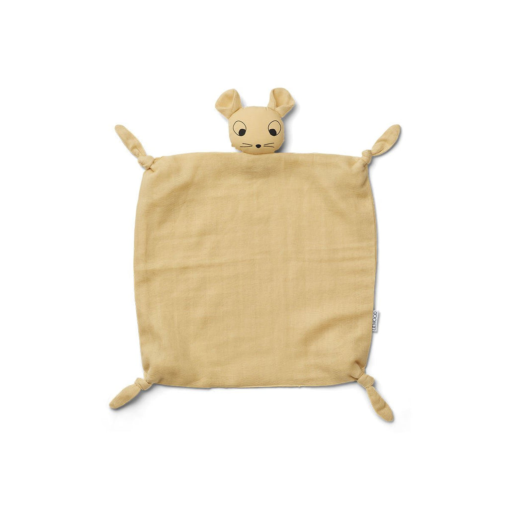 Peluche doudou Agnete - Souris wheat yellow