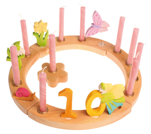 Figurine décorative en bois - Mouton Rose
