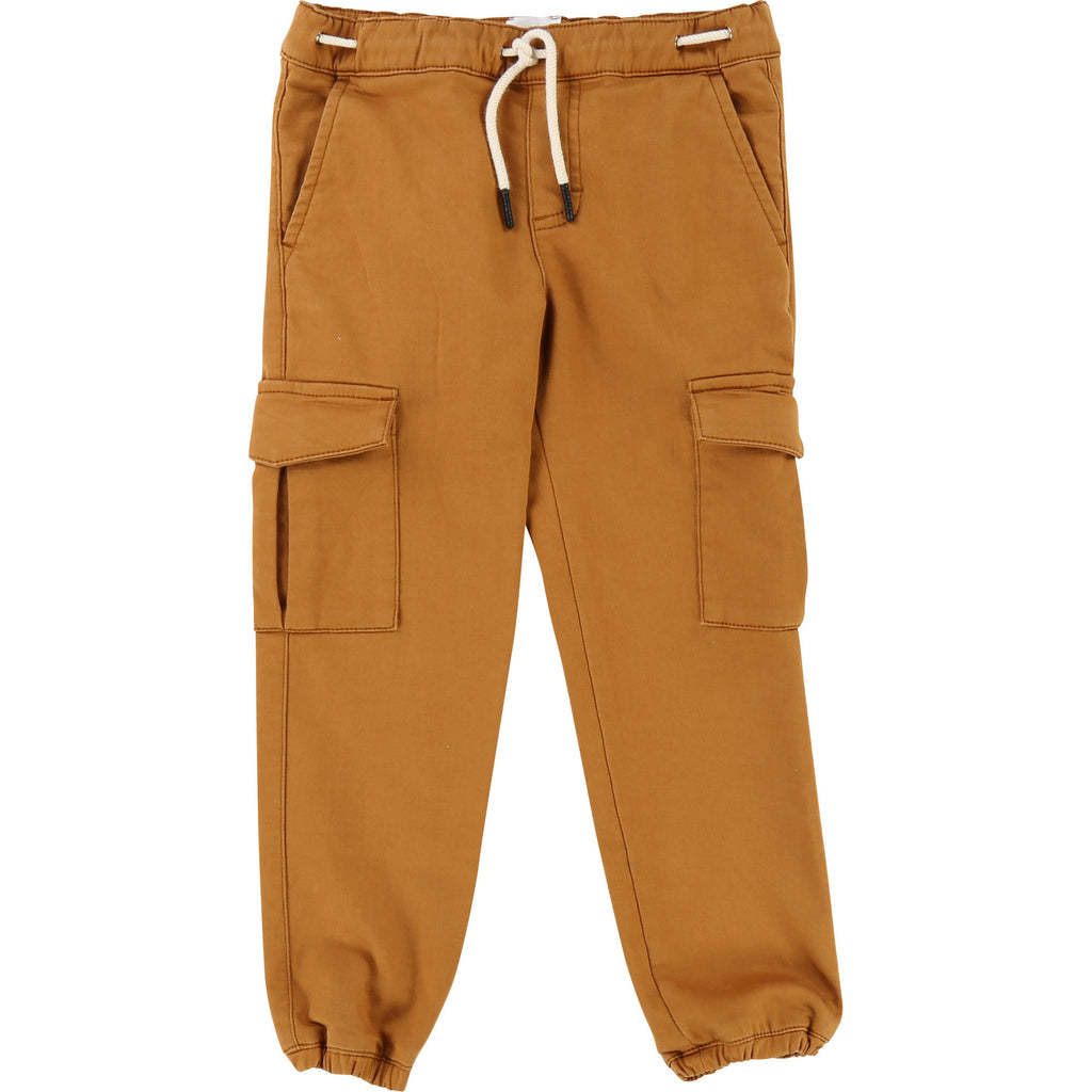 carrement beau beautiful kids boys cargo ocre brun brown fashion