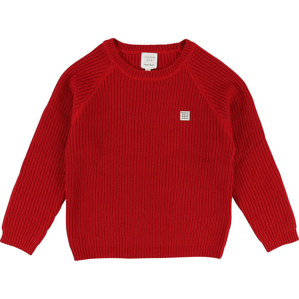 sweater chandail long pull carrement beau beautiful fashion rouge team red tricot knit kids cloth