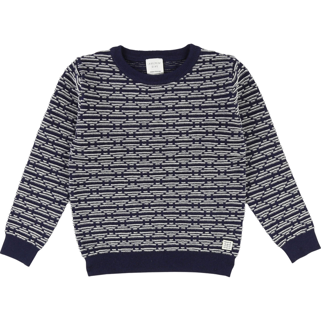 pull sweater losange knit tricot warm marine navy fashion carrement beau