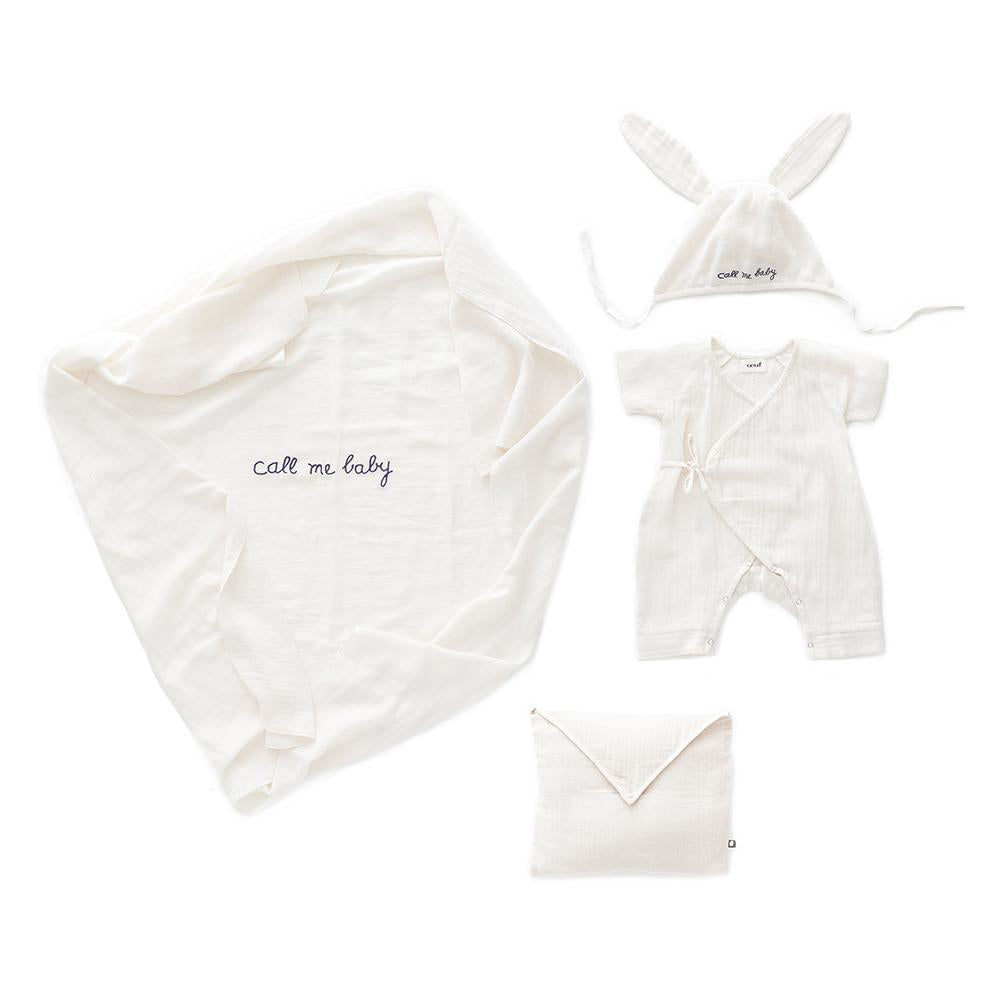 baby gift kit muslim cotton organic cotton baby set oeuf be good mousseline blanc