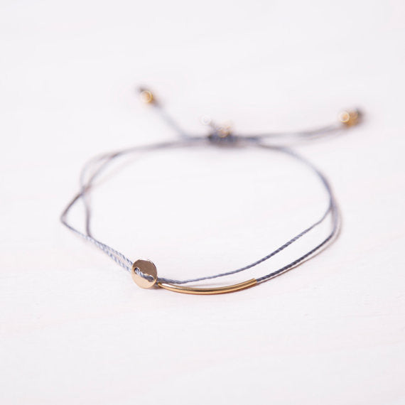 Bracelet ajustable DEMI-LUNE OR (2 couleurs)
