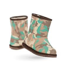 Botte imperméable/laine mérinos-CAMO
