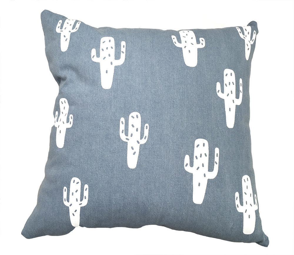 Coussin-jeans cactus